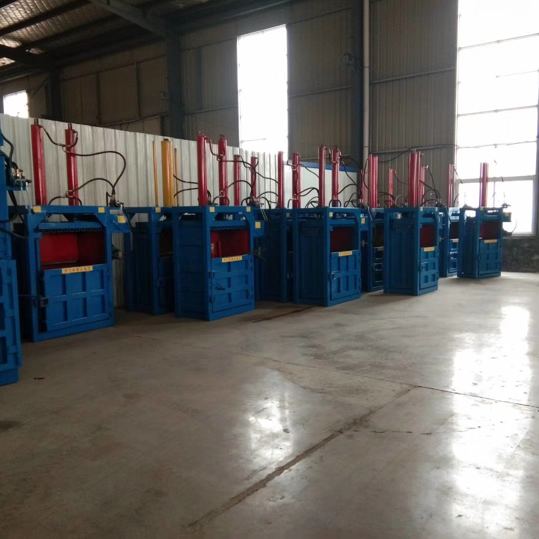 Waste paper baling press machine vertical hydraulic plastic scrap baler manufacturer for waste bottle press baler