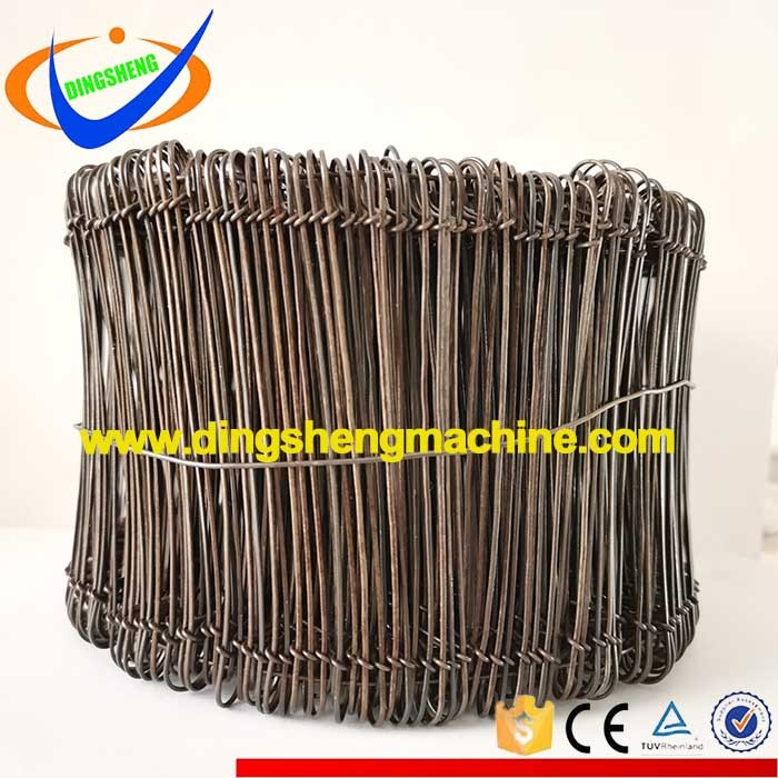 Black annealed steel soft wire tie double rings machine