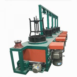 Economical pulley type dry steel nail wire drawing machine