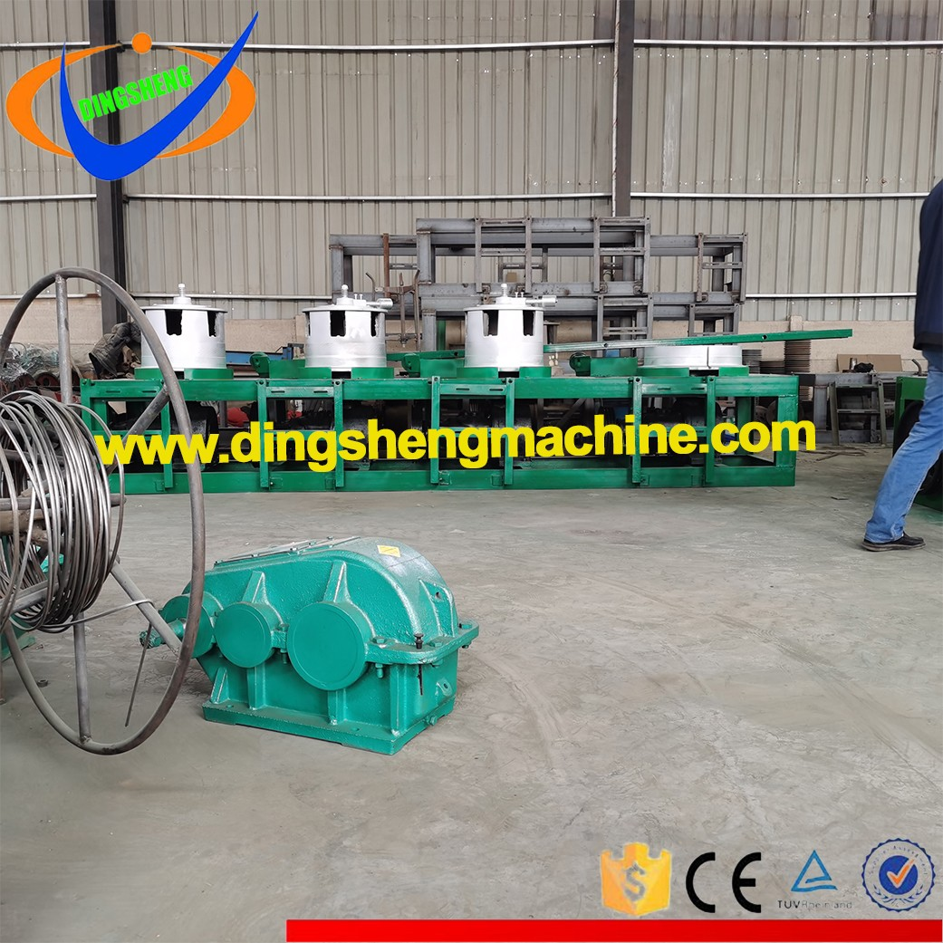 Vertical Pulley Type Steel Wire Drawing Machine With 4 Drums, Barrels and Blocks