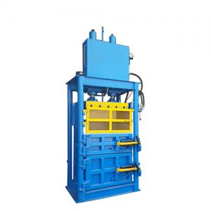 Vertical machine waste paper scrap hydraulic metal baler