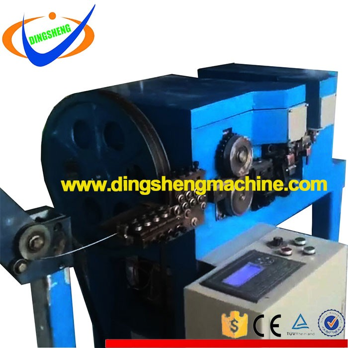Welding double loop wire tie machine