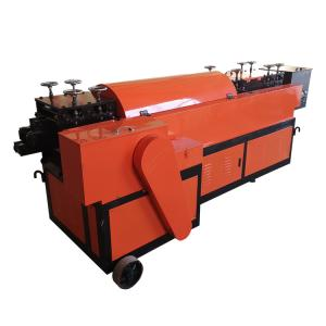 CNC steel rebar coil straightening and cutting machine